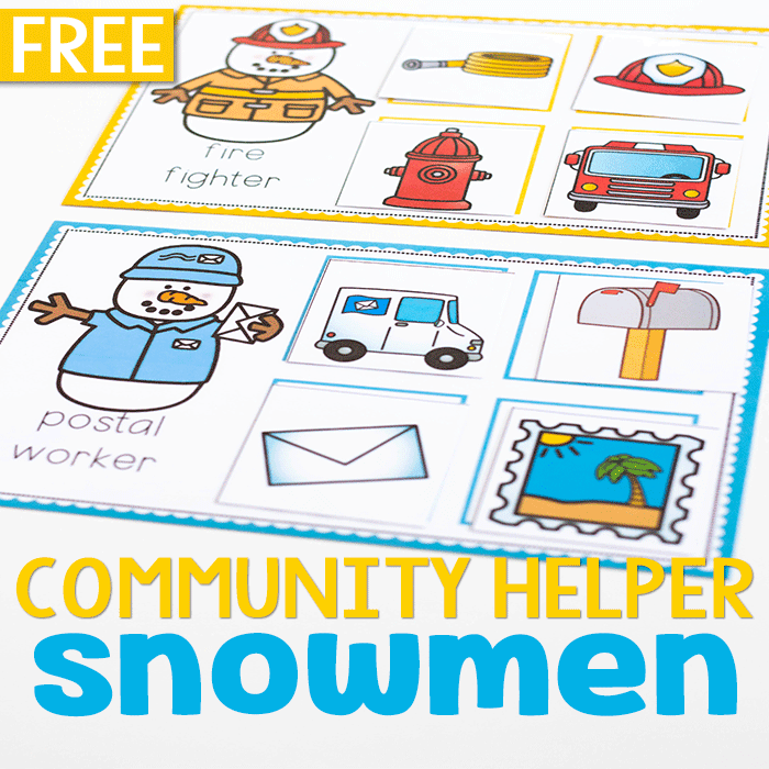 Free printable community helpers preschool activities. Community helpers sorting and matching games.