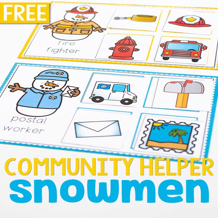 Free printable community helpers preschool activities. Community helpers sorting and matching games.