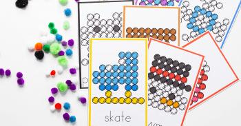 Free printable winter themed printables for preschool. Fine motor activities for indoor recess.