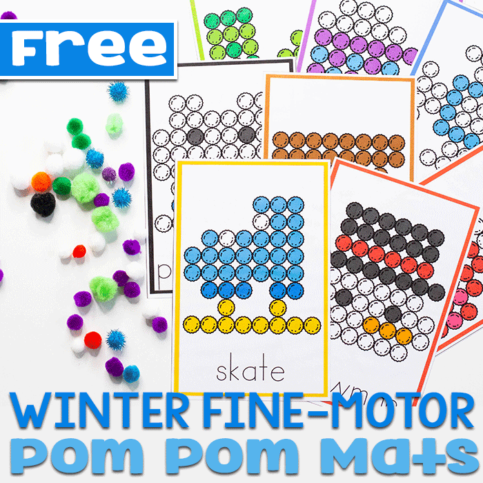 This pom pom activity for preschoolers is a great way to work on fine motor skills like the pincer grasp.