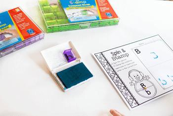 The supplies for the Snowman Alphabet Activity for Preschool.