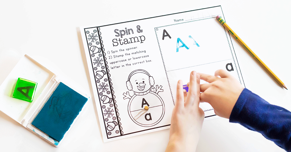Free printable kindergarten alphabet activities for your winter theme.