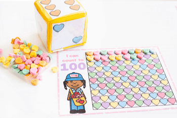 Counting games for your Preschool Valentine Math Centers.