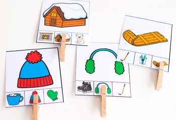 Match picture to picture with these low prep free winter theme matching cards for preschool.