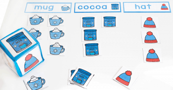 Whole class or small group graphing activity for kindergarteners. Perfect for winter themed math lessons.