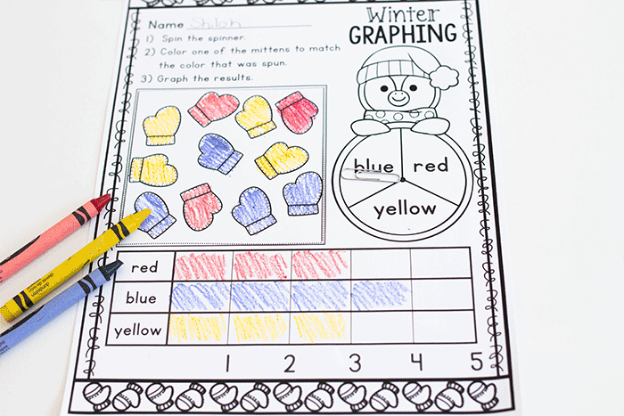 This simple print & go graphing activity for kindergarteners will save you time and ink.