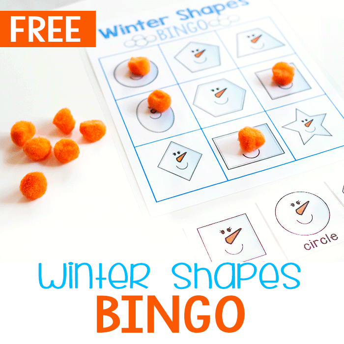 2D Shapes Winter BINGO Set