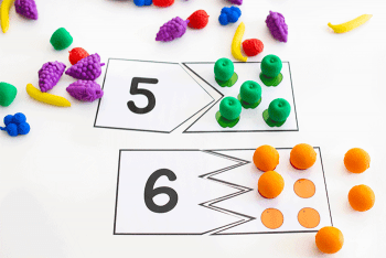 Free printable fruit counting activities for preschool
