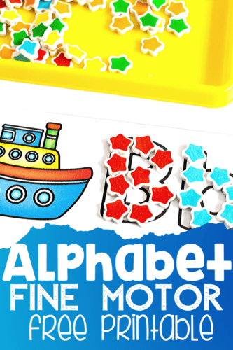 Perfect alphabet outlines free printable for mini erasers, wikki stix, buttons, pom poms, dry erase markers and more!