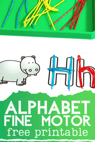 This free printable preschool alphabet activity is great for working on fine motor skills and learning beginning sounds.