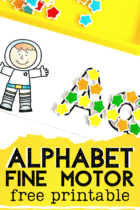 Free printable alphabet outline cards for preschoolers. Learn beginning sounds, letter recognition, letter formations and the letters of the alphabet with these fine motor alphabet cards for mini erasers, wikki stix, dry erase markers, pom poms and more
