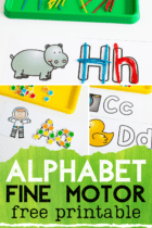Simple alphabet outlines that are perfect for mini erasers, wikki stix, yarn, buttons and more.