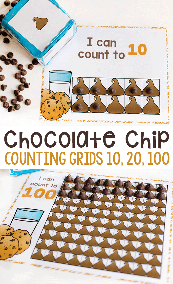 Free printable counting activities for kindergarten and preschool. English and Spanish math activity.
