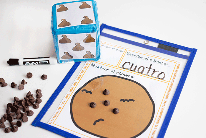 Practice counting in Spanish with this simple counting activity for preschoolers.