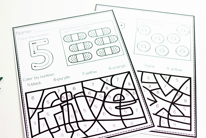 Free Color By Number Color Worksheets For 0-10 - Life Over C's