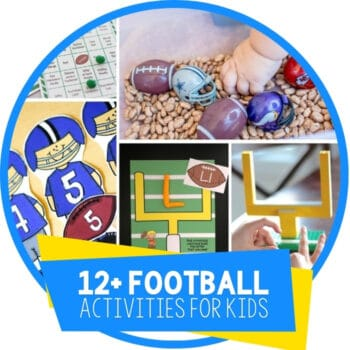 Football Theme Activities for Kids Featured Image