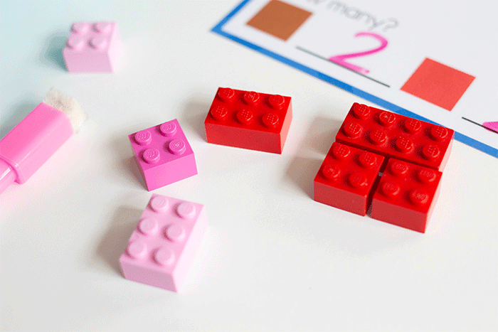 Practice the part-part-whole concept by substituting small bricks for large LEGO with this simple winter fine motor activity.