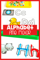 This free printable alphabet outline set is perfect for letter recognition, letter formation, beginning sounds and fine motor skills with your preschoolers, kindergarteners and pre-k students.
