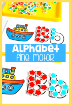 Form the letters using fine motor materials like mini erasers, pom poms, Wikki Stix and more.