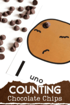 Free printable chocolate chip counting cards make math centers so much fun!