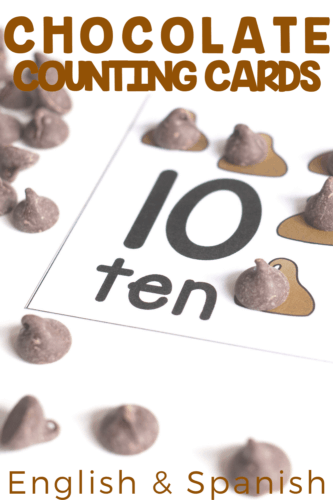 Free preschool counting activity. Printable chocolate chip counting cards for your preschool math centers.