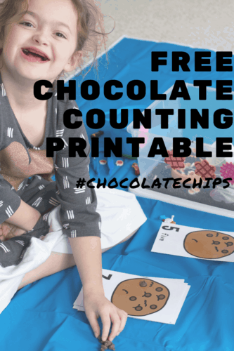 Count to 10 with your preschoolers using these fun chocolate chip counting cards in two formats.