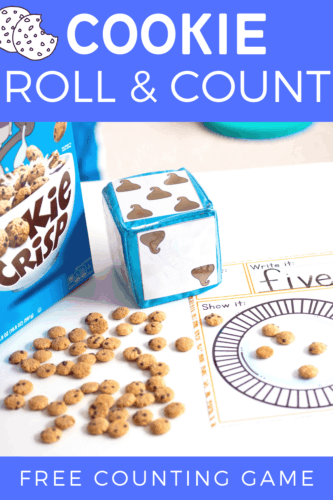 Free printable counting activity for preschoolers. Practice counting with this low-prep roll and count dice activity for math centers.