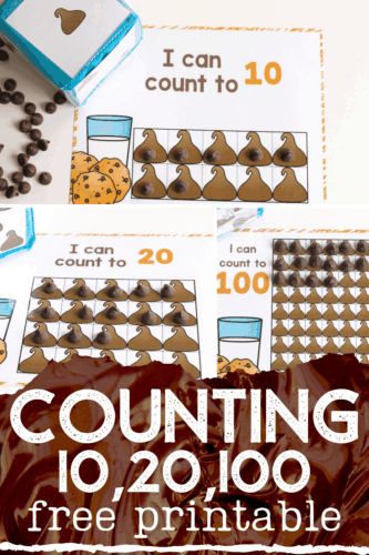 Free counting games for preschool and kindergarten. This kid's counting activity is perfect for learning to count, basic addition skills and basic subtraction skills. Use chocolate chips to count.