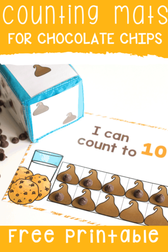 Free printable counting games for counting to 10, 20 and 100 in English and Spanish. Perfect for bilingual preschool and kindergarten classrooms. A fun chocolate chip theme makes math exciting!