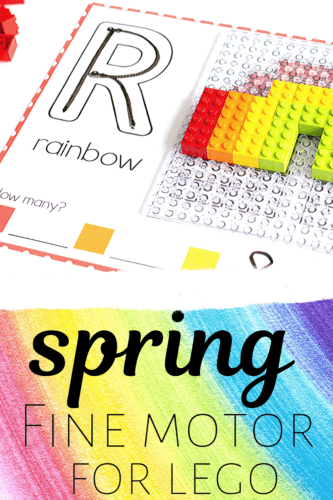 Along with some other fun LEGO mosaics, kids will love building these spring LEGO projects.