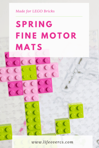 Use LEGO bricks to work on fine motor skills with these free printable fine motor mats for LEGO.