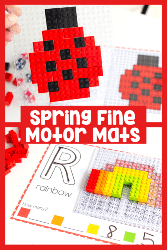 Build LEGO mosaics with an exciting spring theme. Use these fine motor mats for occupational therapy that doesn't feel like therapy.