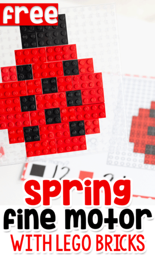 These free printable LEGO activities are a no-prep math center for your kids who already love playing with LEGO.