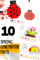 Use LEGO bricks to work on fine motor skills with these free printable fine motor mats for LEGO. Perfect for preschool, pre-k and kindergarten math centers.