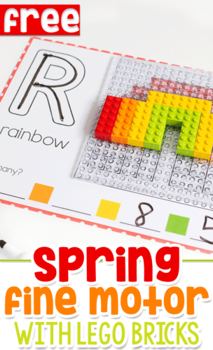Build a flower LEGO mosaic with these fun LEGO mats for fine motor skills. Great for preschool, pre-k and kindergarteners who love playing with LEGO!