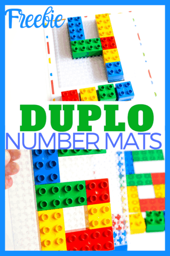 Number Mats for DUPLO blocks. Counting activity for preschool.