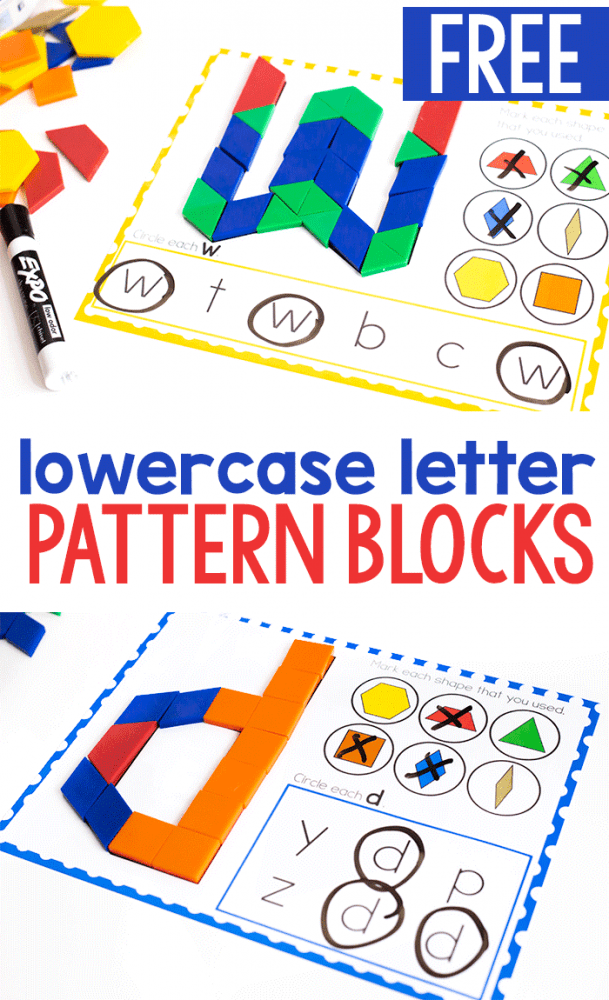 photo regarding Printable Pattern Blocks called Totally free Printable Lowercase Alphabet Behavior Block Mats - Daily life