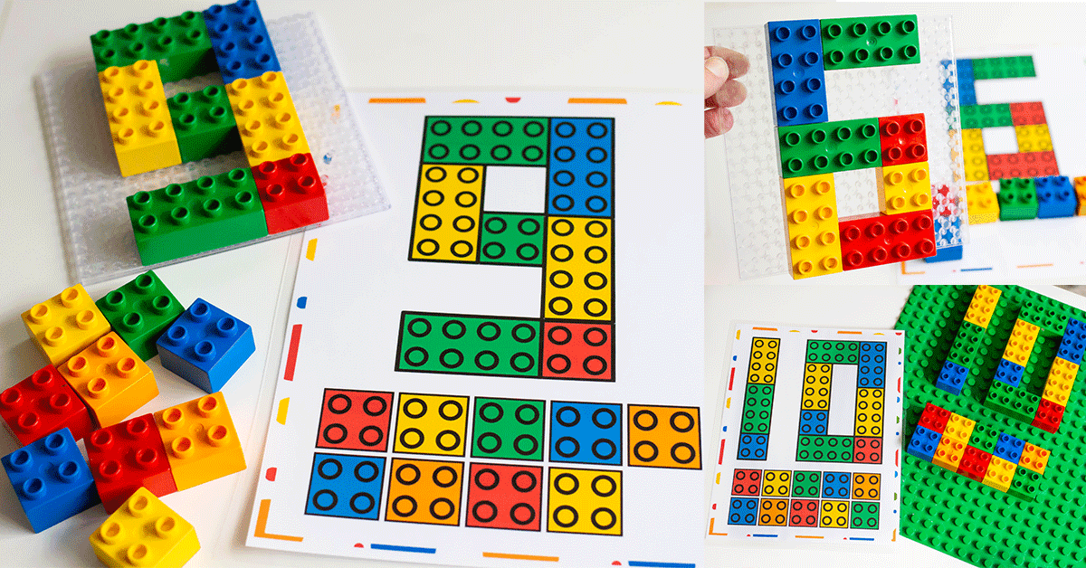 image regarding Printable Mats named Absolutely free Printable Counting Mats For DUPLO Blocks - Lifestyle Above Cs