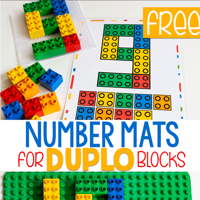 Free Printable Counting Mats For DUPLO Blocks