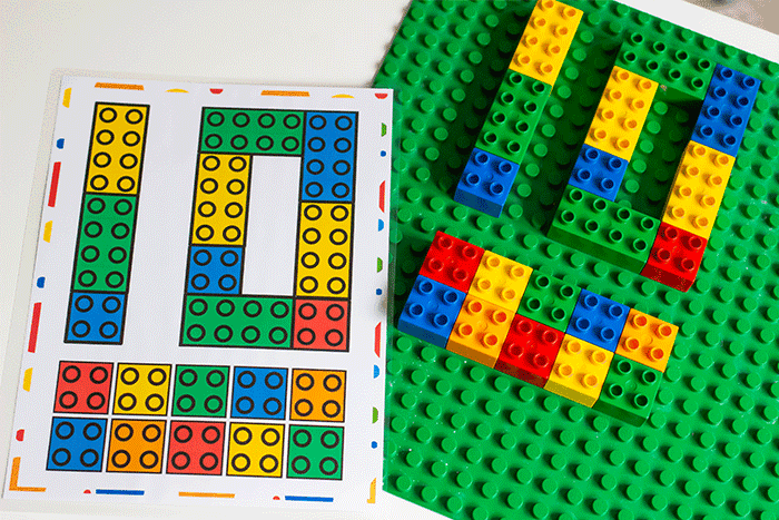 DUPLO Number counting mats 1-10 for preschool, pre-k and kindergarten