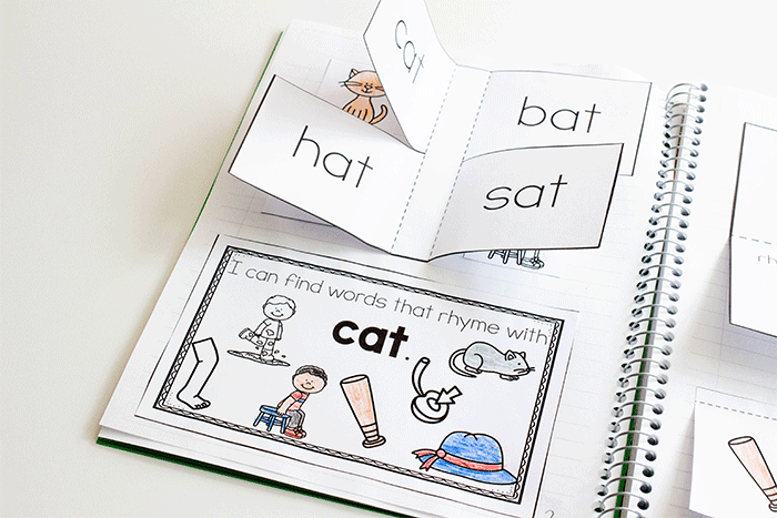 Free printable short vowel cvc word rhyming interactive notebook activity. Kindergarten reading activity