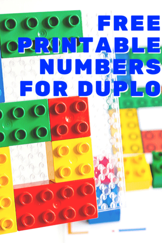 Free printable counting activity for DUPLO blocks. Count to 10 with DUPLO in your preschool math activities.