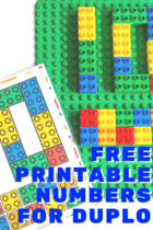 Free printable number mats for LEGO Duplo blocks. Perfect for counting to 10
