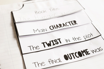 Free printable interactive notebook for reading. Book journal for book reviews