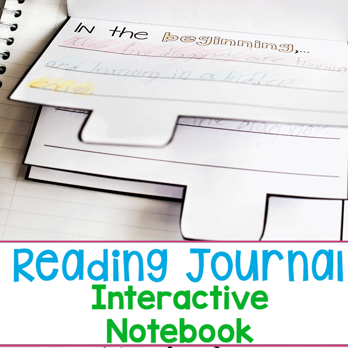 Free printable book journal interactive notebook for reading. Kids track their summer reading with this interactive reading notebook.