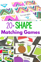Shape activities for kindergarten shape matching games for preschool