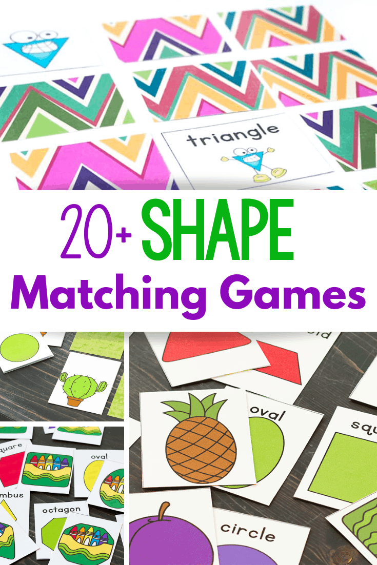Shape activities for kindergarten shape matching games for preschool