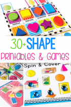 printable shape matching games shape matching card game for puzzles, shape sensory bag, shape spinner game