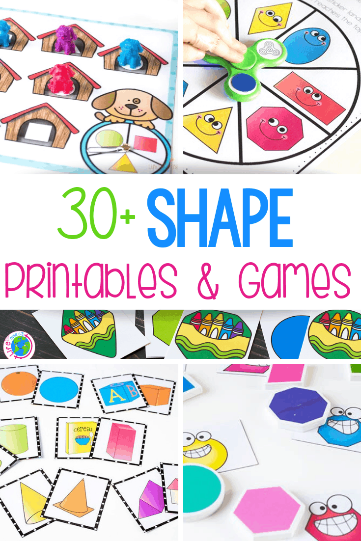 Free printable shape games for kindergarten shape printables for preschool
