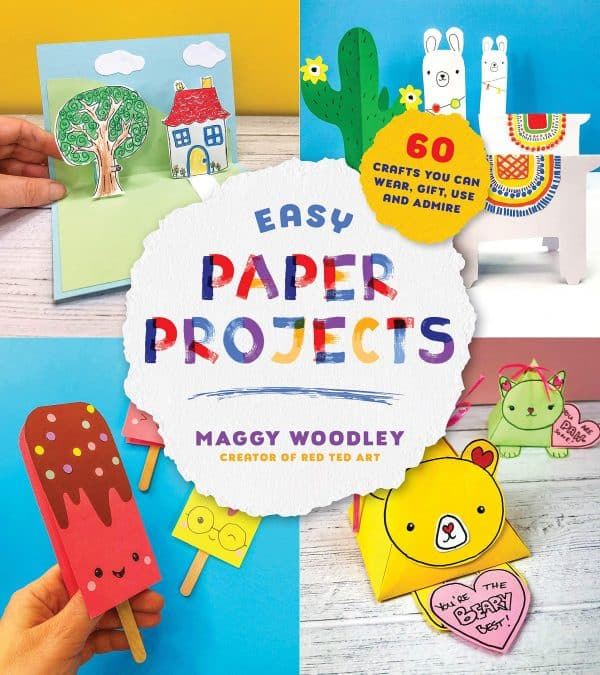 Easy Paper Projects book by Maggy Woodley for crafting with kids!